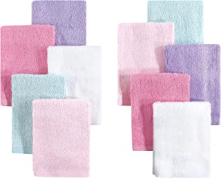 Little Treasure 10 Piece Luxuriously Soft Washcloths, Pink Lilac, One Size