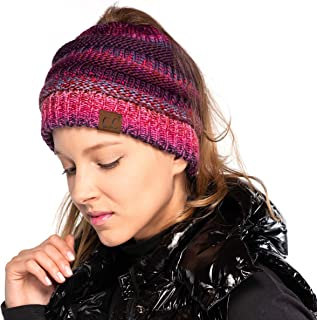 Hatsandscarf C.C Exclusives Messy Bun Ponytail Beanie Winter Hat