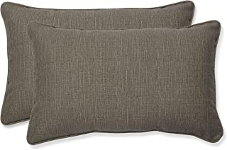 """Pillow Perfect Outdoor/Indoor Monti Chino Lumbar Pillows, 11.5"""" x 18.5"""", Taupe, 2 Pack"""