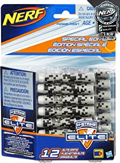 NERF Special Edition N-Strike Elite Darts - 12 Pack, Gray