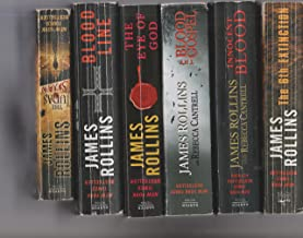 James Rollins - Set Of 6 Books - Blood Line - The Judas Strain - The Blood Gospel - The 6th Extinction - Innocent Blood - The Eye Of God.