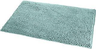 Amazon Basics Tapis de bain antidérapant à poils longs en microfibre, 0,53 x 0,86 m, Vert écume de mer