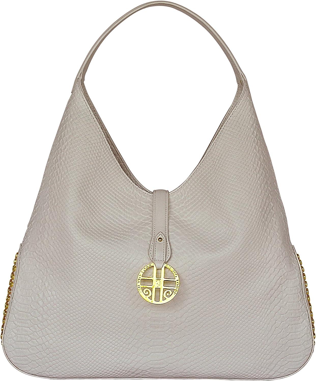 SILVIO TOSSI Damen Leder Handtasche Handtasche Handtasche Schultertasche Weiss Modell 12769-03 B07F3WB7CJ b4b0f4