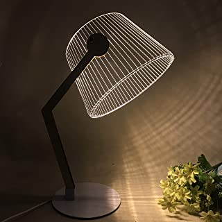 Omeet Nordic Style Delicate and Simple LED Night Light 3D Creative Acrylic Desk lamp Decoration Desk lamp