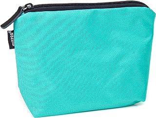 حقيبة قماش صغيرة بسوستة متعددة الاستخدامات من مينترا، 21.5 × 15 سم - اخضر اكوا