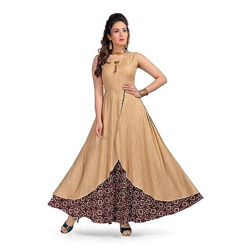 cb8fbda31bc52 Long Designer Gown: Buy Long Designer Gown Online at Best Prices in ...