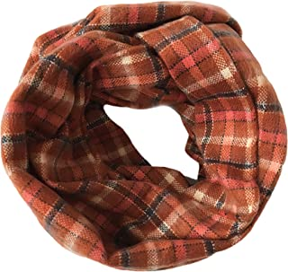Women's Tartan Plaid Blanket Infinity Scarf