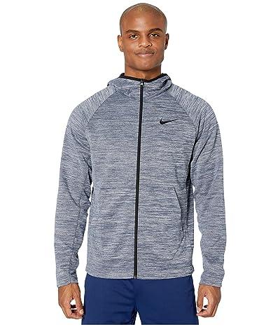 Nike Spotlight Hoodie Full Zip (College Navy/Heather/Black) Men