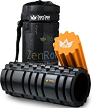 ZenRoller Foam Roller for Deep Tissue Muscle Massage, Trigger Point Massager, Muscle Tension Relief, promotes Blood Circul...