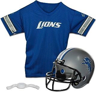 Franklin Sports Detroit Lions Kids Football Helmet and Jersey Set - NFL Youth Football Uniform Costume - Helmet, Jersey & Pants - Youth M