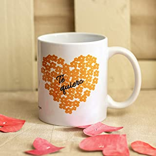 Taza de cerámica TE QUIERO, taza regalo San Valentín