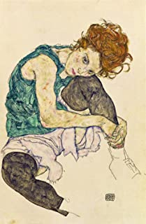Odsan Gallery Seated Woman With Bent Knee - By Egon Schiele - Canvas Prints 16