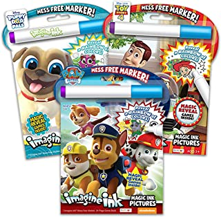 Imagine Ink Coloring Book Set for Toddlers Kids - 3 Magic Ink Books Featuring Paw Patrol, Puppy Dog Pals and Toy Story