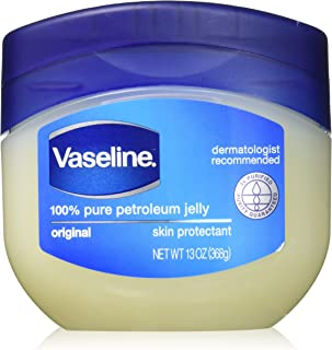 Vaseline 100% Pure Petroleum Jelly, Original Skin Protectant, 13 Oz (Pack of 2)
