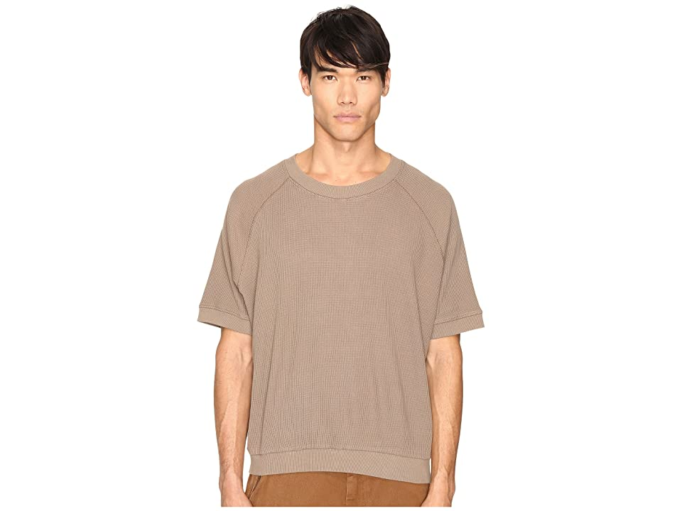Image of adidas Originals by Kanye West YEEZY SEASON 1 Short Sleeve Thermal Tee (Fossil) Men's T Shirt