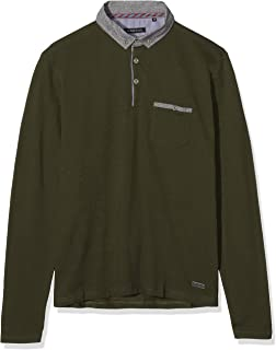 Brave Soul Mens Herae Collared Polo Long Sleeved Top