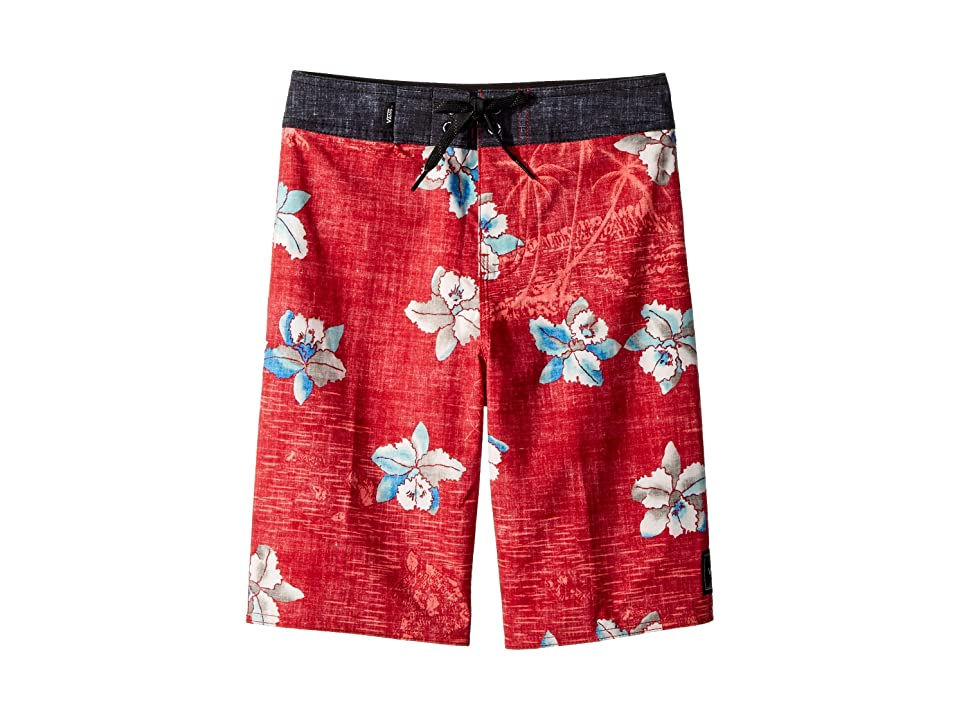 Vans Kids Hawaii Floral Boardshorts (Little Kids/Big Kids) (Chili Pepper) Boy
