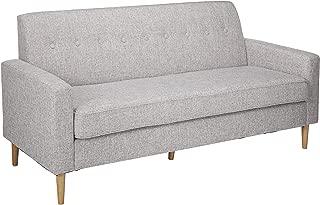 Christopher Knight Home Stratford Mid Century Modern Light Grey Tweed Fabric 3 Seater Sofa