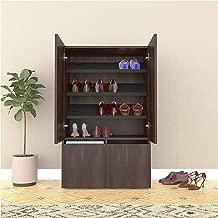 Studio Kook Canvas Shoe Rack | Shoe Cabinet (Junglewood, Matte Finish)