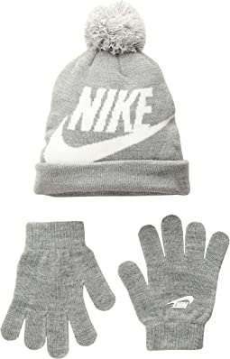 1cd812d6f948e Dark Grey Heather. 59. Nike Kids. Swoosh Pom Beanie Gloves Set ...