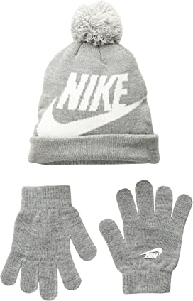 8e5241f647a Nike Kids Swoosh Baby Fleece Cap Gloves Set (Infant Toddler) at ...