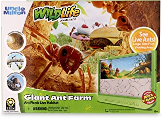 Uncle Milton GIANT Ant Farm - Large Viewing Area - Care for Live Ants - Nature Learning Toy - Science DIY Toy Kit - Great ...