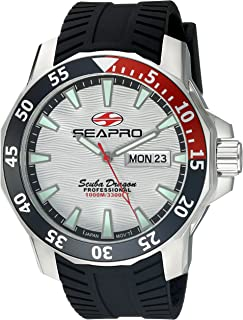 Seapro Men's SP8312 Analog Display Quartz Black Watch