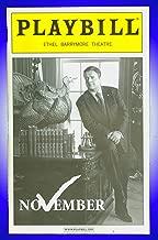 November + Broadway playbill + Nathan Lane , Laurie Metcalf , Dylan Baker, Ethan Phillips