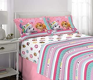Franco Kids Bedding Super Soft Sheet Set, 4 Piece Full Size, Paw Patrol Pink