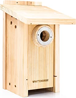 WHITEHORSE Premium Cedar Bird House - Weatherproof Design with a 15 sq inch Floor - A Bluebird Box House Built to NABS Spe...