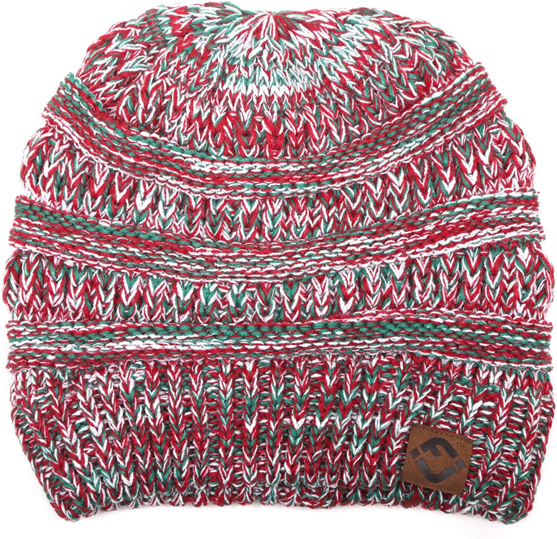 FJ Beanie Save money Slouchy Knit Funky Xmas Winter Junque - Hat half