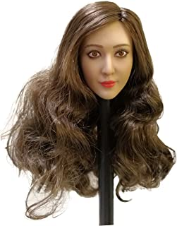 Phicen 1/6 Scale Asia Head Sculpt with Brown Hair for 12 Female Body