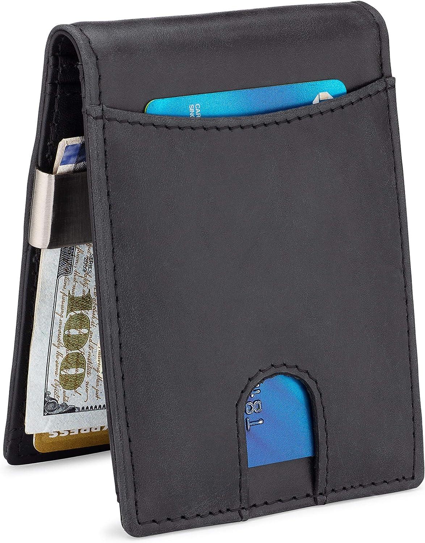 NKPT New product! New type Premium Leather Metal Money Clip For Secu Wallet Large Popular standard Men