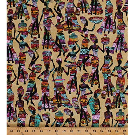 African Girls Eve Printed Cotton Fabric By The Yard