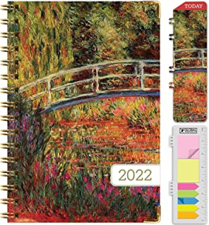 """HARDCOVER 2022 Planner: (November 2021 Through December 2022) 5.5""""x8"""" Daily Weekly Monthly Planner Yearly Agenda. Bookmar..."""