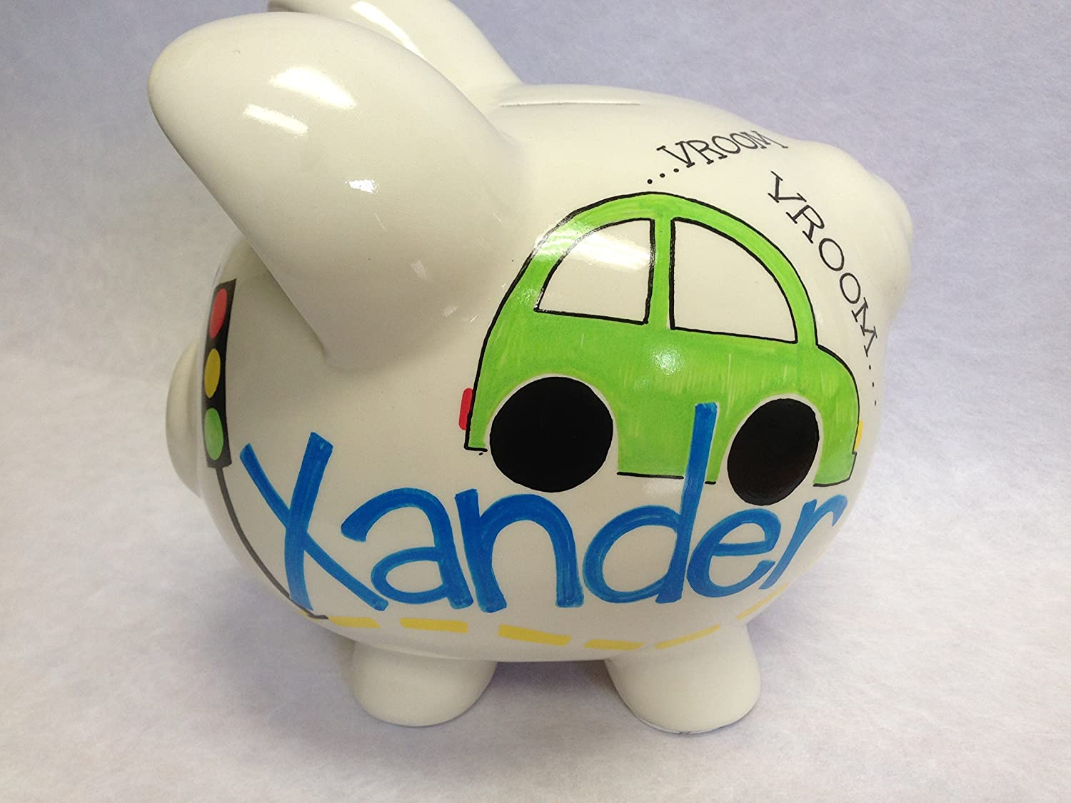 Limited time Max 57% OFF trial price Cars theme personalized piggy bank
