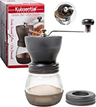 Manual Coffee Burr Grinder- The Original EvenGrind w/Patented Stability Cage- Even Coffee Grounds Guaranteed!
