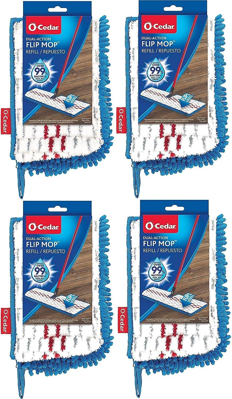 O-Cedar Hardwood Floor 'N Topics on TV More Refill Flip Award Microfiber Mop Pack
