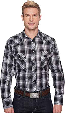 Roper - 1205 Black and Charcoal Plaid