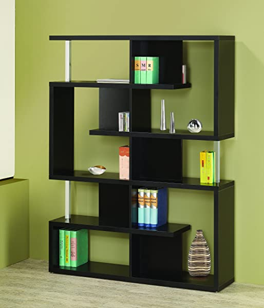 5 Tier Bookcase Black And Chrome