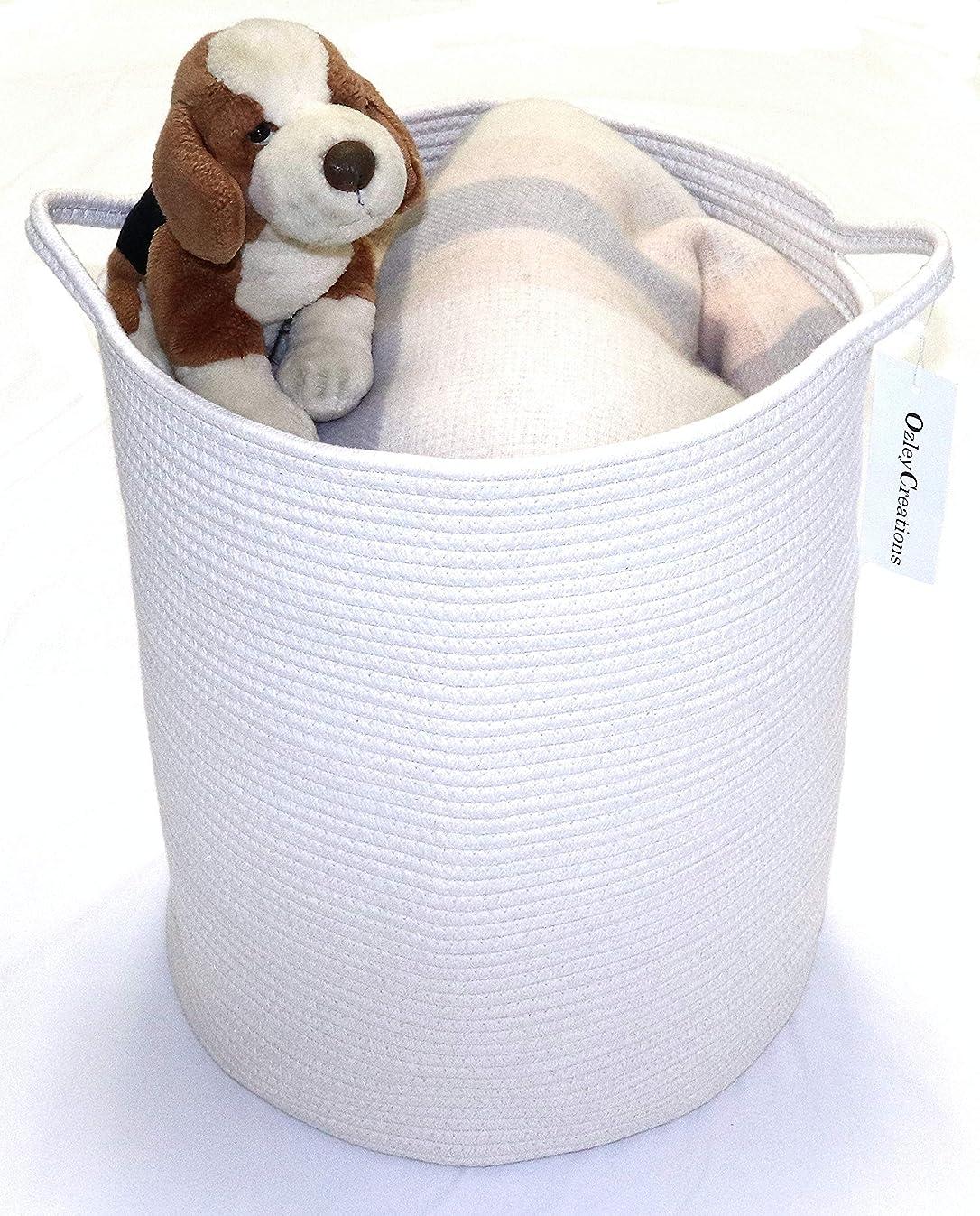 OZLEY Large Cotton Rope Basket | 18