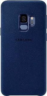 Samsung Alcantara Fabric Qi Charging Compatible Case Cover for Galaxy S9 - Blue,EF-XG960ALEGWW