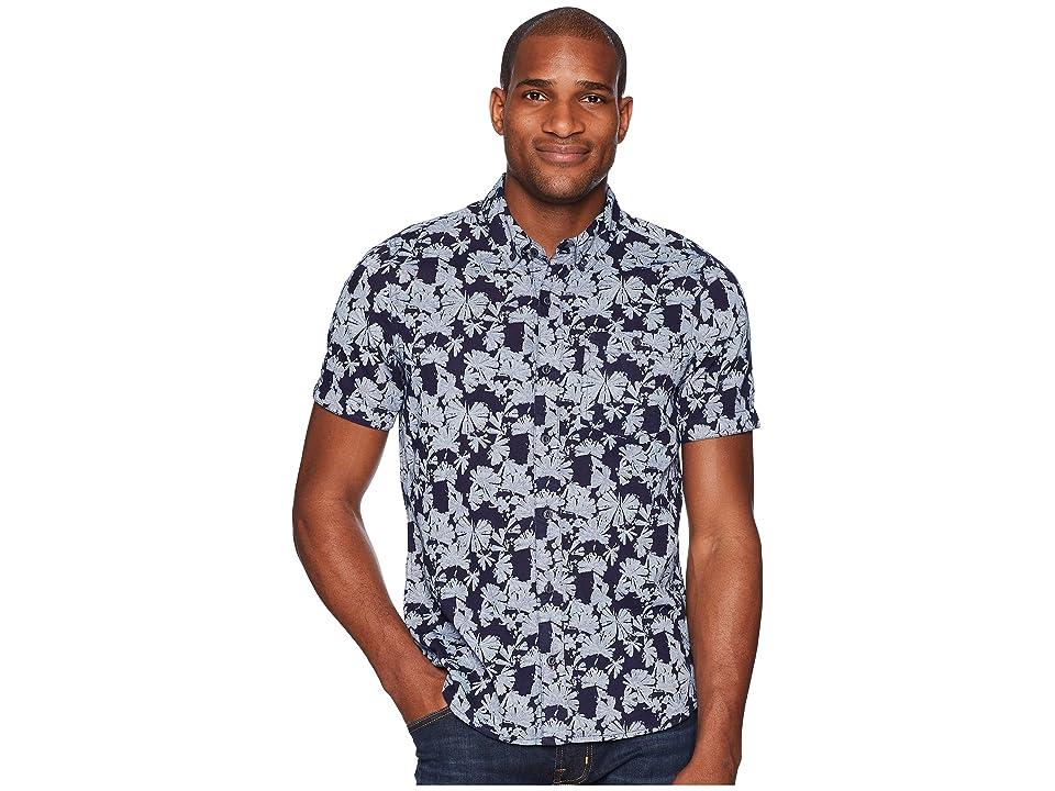 Toad&Co Mattock Short Sleeve Slim Shirt (Indigo Flower Print) Men