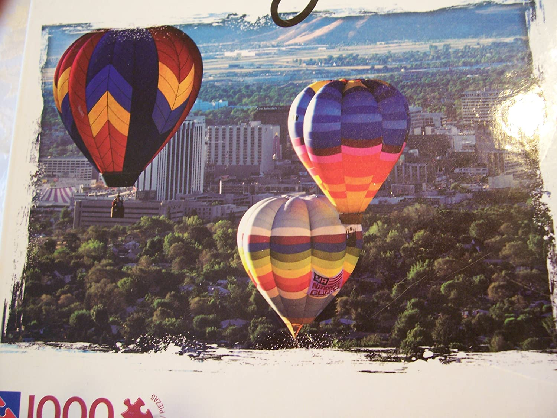 Balloon Race Over Nevada 1000 Piece Puzzle