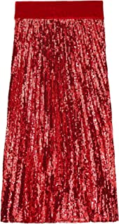 Uterque Women Pleated Sequinned Skirt 0308/259