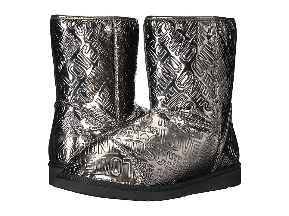 LOVE Moschino Ankle Boots (Pewter) Women
