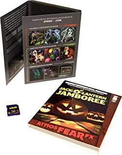 AtmosFX Jack-O'-Lantern Jamboree Digital Decorations SD Card for Halloween Holiday Projection Decorating