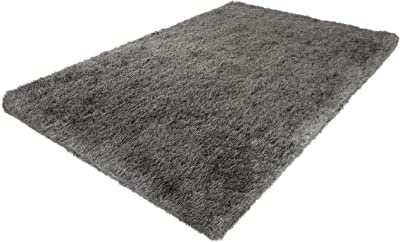 Lavish Home Shag Area Rug-8x10 Plush Throw Carpet-Cozy Modern Design-Solid Color Floor Covering for Home, Living Room, Bedroom & Office, 8'x10', Gray