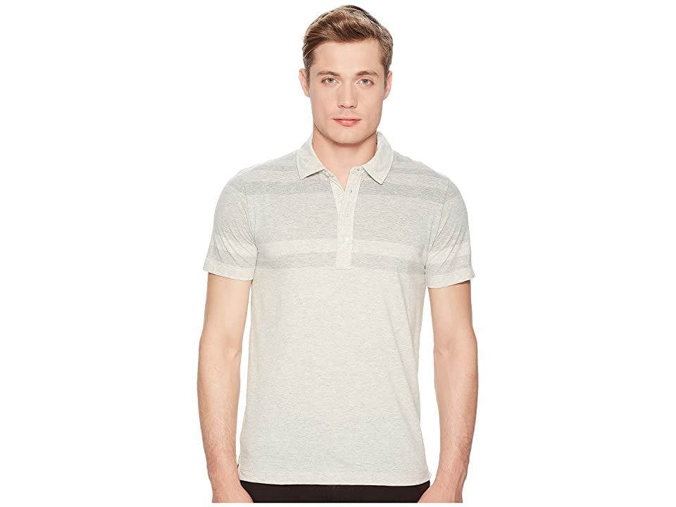 Image of Billy Reid Gradient Polo (Natural/Light Grey) Men's Clothing