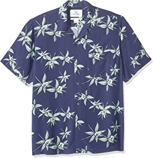 Amazon Brand - 28 Palms Men's Standard-Fit Vintage Washed 100% Rayon Tropical Hawaiian Shirt